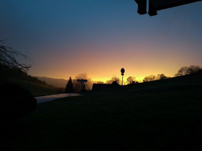 Sonnenuntergang Thomashof Ferienwohnung
