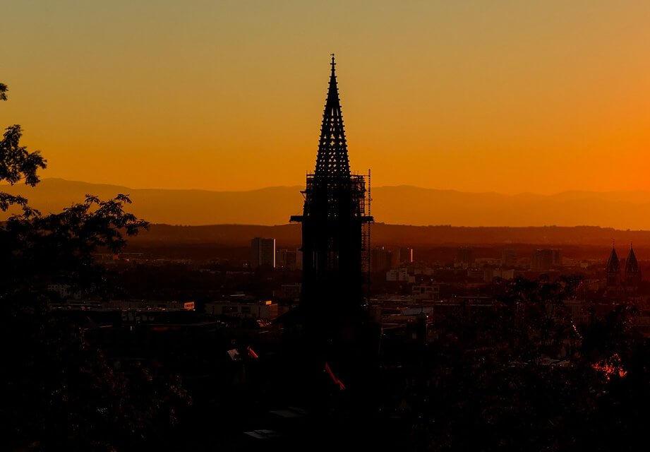 Freiburg Sonnenuntergang