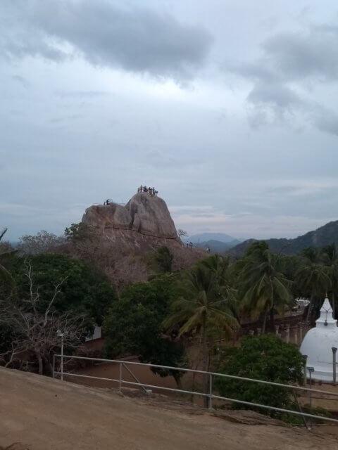 Sicht vom Buddha bei Mihintale