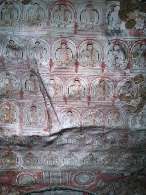 Dambulla Höhlendecke