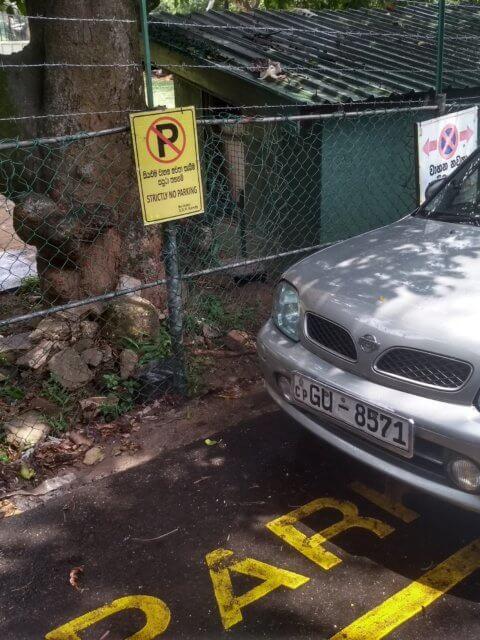Wirklich, hier darfst du nicht parken... Mir egal