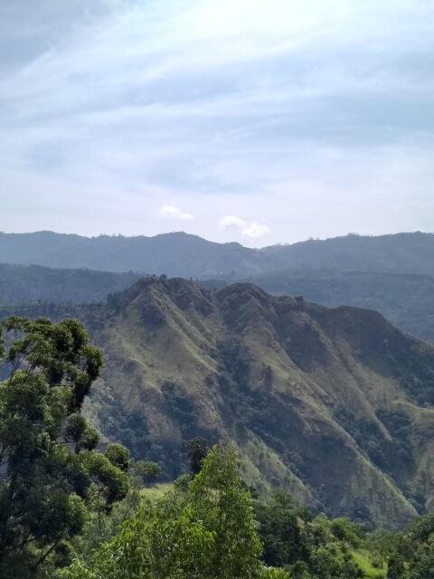 Little Adams Peak vom Weg auf den Ella Rock zu sehen
