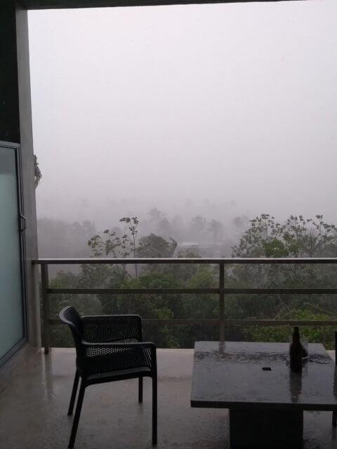 Ein wenig Regnerisch aufm Hotel Balkon