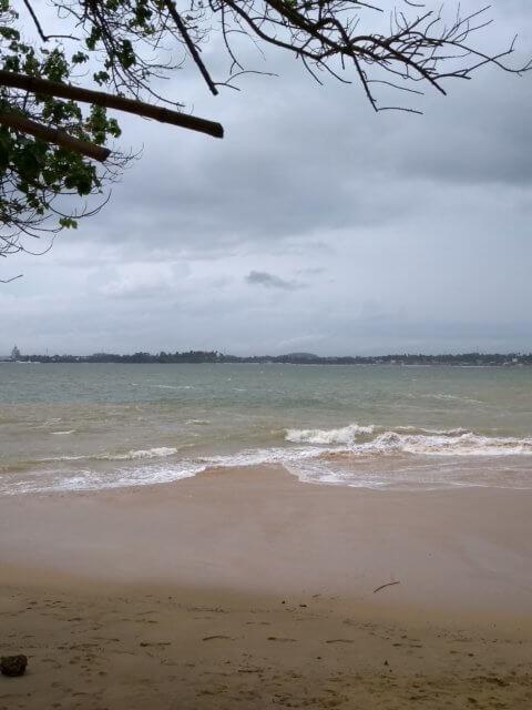 Meer in Unawatuna