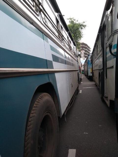Ein wenig Verkehr in Colombo
