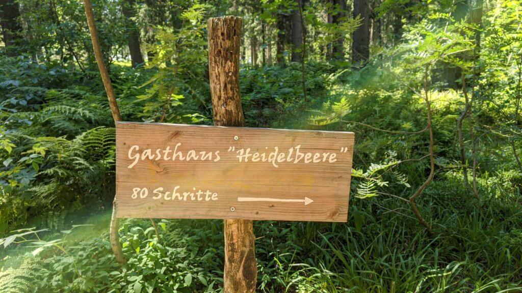 Wichtelpfad Feldberg Gasthaus Heidelbeere